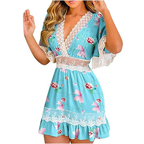 Party Dress Sommerkleid Damen Dressing Table with Mirror and Chair Sommerkleid Damen Kurz äRmellos Tunika Kleid Damen Sommer only Kleider Damen Sommer Hellblau XL
