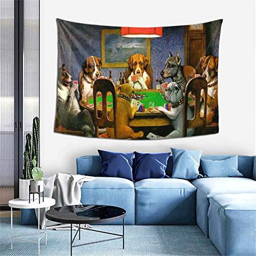 Tapiz para colgar en la pared, para jugar al póquer, para sala de estar, dormitorio, decoración en 152 x 101 cm