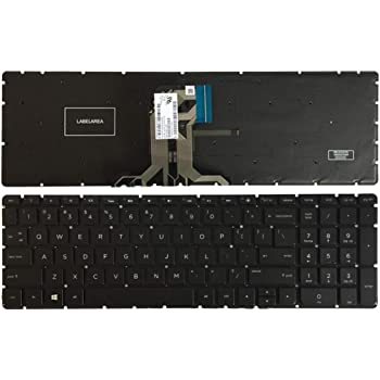 Givwizd Laptop Replacement Backlit Keyboard for HP 15-da0307tx 15-da0308ng 15-da0313ng 15-da0316ng 15-da0322tu 15-da0326tu 15-da0327tu 15-da0356tx 15-da0374tx US Layout Black Color