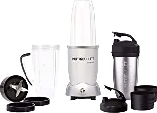 NutriBullet Max 1200 watt-serien – Näringsextraktor, hälsoset, 25 000 varv/minut. Smoothie Maker, mixer – 12 delar – silve...