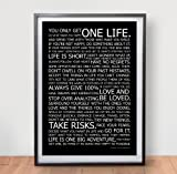 LIFE MANIFESTO POSTER - In Black - Motivational Quote Wall