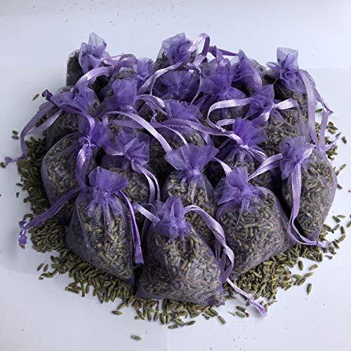Bio-Lavendelbeutel, Duftaromen, Lufterfrischer, für beruhigenden Schlaf, Entspannung, Mottenabwehr, 5 x 7 cm, 20 Stück