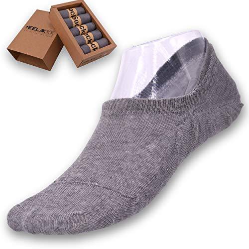 REELAXXX Calcetines Cortos Zapatillas de deporte lino unisex para hombres y mujeres, juego de 5 pares en la caja, deportivos clásicos, elastano, antitranspiración, lujosos 100% calidad