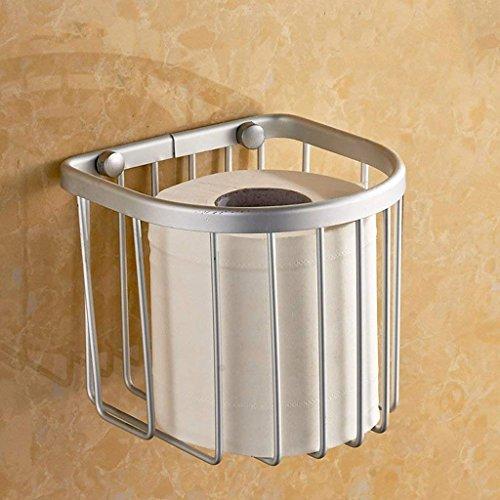 YNG Toilettenpapier-Gestell-Toilettenpapier-Halter/Toilettenpapier-Kasten/Raum-Aluminiumpapier-Tuch-Korb/Multifunktionspapiertuch-Zahnstange/Badezimmer-Hardware-Anhänger
