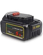 QUPER DCB184 18 V 5,0 Ah MAX XR zamiennik baterii DeWalt DCB180 DCB181 DCB182 DCB200 18 V