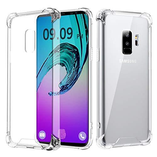 RKINC Case ForSamsung Galaxy S9 Plus, Crystal Clear Reinforced Corners Soft TPU Bumper Cushion + Hybrid Rugged Hard Transparent Panel Cover forSamsung Galaxy S9 Plus