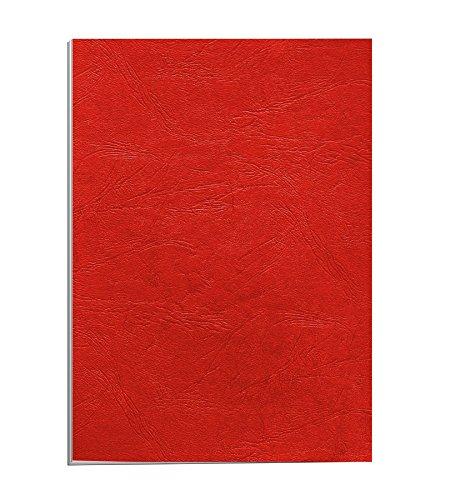 Fellowes Delta Cuero - Portadas de encuadernación (A4, 250 g/m², 25 unidades), color rojo