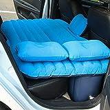 HKVML Cama de colchón de Viaje Inflable de Aire para Coche, Universal para Asiento Trasero, Multifuncional, sofá, cojín para Acampar al Aire Libre, Azul, 135 * 80 * 35 cm