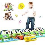 Womdee Klaviermatte Baby, Musikteppich Baby, Klaviermatte mit 8 Instrumenten Kinder Spielzeug Mit Musik und Lichter Tiermuster Kinder Baby Geschenk 100 * 36cm -