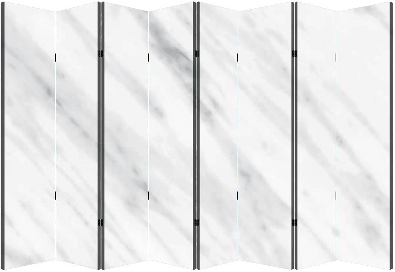 8 Max 65% OFF Panels Wall Divider White Marble Natural Pattern Texture wi in Max 65% OFF