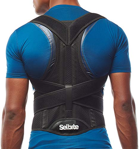 Back Brace Posture Corrector for Men and Women - Adjustable Posture Back Brace for Upper and Lower Back Pain Relief - Muscle Memory Support Straightener (Large)