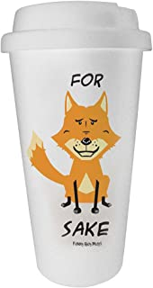 Funny Guy Mugs For Fox Sake Travel Tumbler, White, 16-Ounce