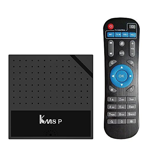FANHE KM8P TV Box Android 7.1 Amlogic S912 Octa Core de 64 bits H.265 UHD 4K VP9 3D Mini PC WiFi AirPlay Miracast DLNA,1G RAM 8G ROM
