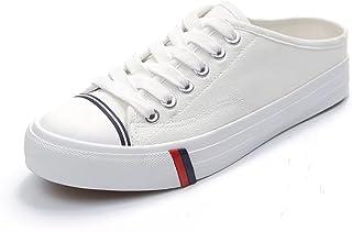 【ユウエ】ズックシューズ レディース スニーカー ローカット レディースシューズ 婦人靴 カジュアル かかとなし 014-dkxh-y-279(39 ホワイト )