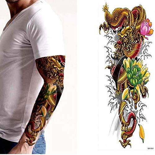 Handaxian 3pcsBrand Nouvelle Fille d'horloge Autocollant Tatouage Bras Horreur Fleur fraîche Rose Tatouage Corps de Transfert d'eau