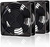Technology Co., Ltd. EASYDIY 120mm 冷却 PCファン,bitcoin mining,大風量,190 CFM、4000 RPM、59 dBA、17.78空気プレ、4ピン Molexコネクタ-2個セット