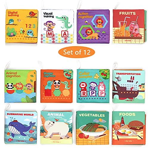 Baby Bath Book,Fabric Baby Cloth Books Early Education Toys