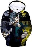 PANOZON Sudadera para Niños Impresa 3D Uniforme de Anime Japonés Manga Ninja para Jóvenes (L, Amarillo Gris 56-5)