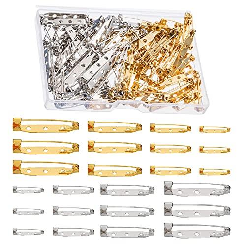 HUAZIZ 200 Pezzi di Spille da Balia Spille Posteriori di Gioiello Spille Metalliche di 25 mm Pins di Sicurezza per Fai da Te, PE Accessori DIY Laurea Regali Artigianato Progetti Gioielli, 4 Taglie