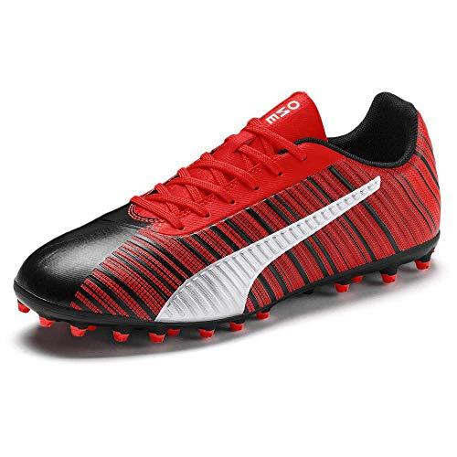 Puma Unisex ONE 5.4 MG Jr Fußballschuhe, Schwarz Black NRGY Red Aged Silver, 38 EU
