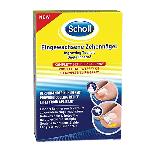 Scholl Eingewachsene Zehennägel Set, Clips & Spray, 1er Pack