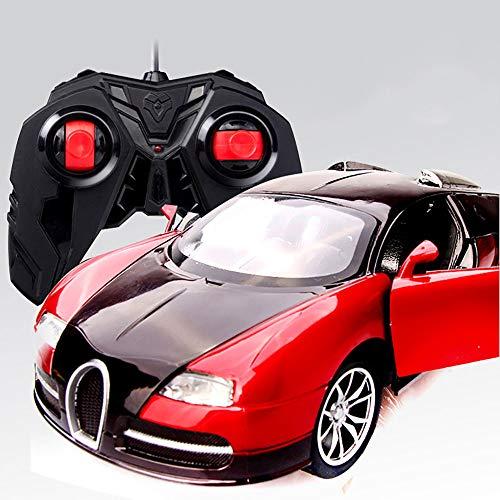 LHZTZKA Bugatti Veyron, el Auto con Control Remoto para niños, Puede Abrir la Puerta con Control Remoto para niños Modelo 1:16 Luces LED Grandes para niños y niñas de Coches de Juguete Regalos(Rojo)