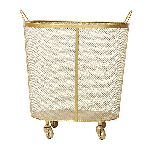 HSGei Wäschekorb mit Griff Leinen Wäschekorb Einbau-Liner mit abnehmbarem und Nützliches Upgraded Folding Wäschekorb Spielzeug-Speicher-Grid-Muster