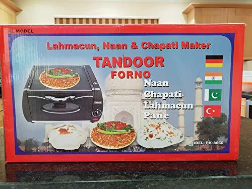 AGM Mini Tandoor Table Top Oven Lahmacun Naan Chapatti Roti Pizza Maker