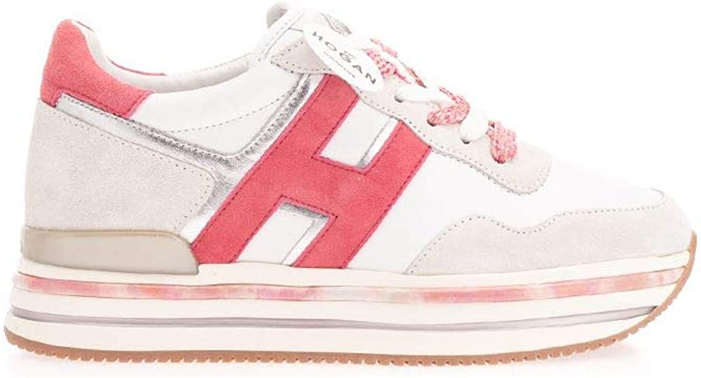 Hogan scarpe da donna sneakers running in pelle Midi H222