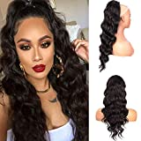 Ponytail Extensions Drawstring Long Wavy 24Inch for Women Clip in Hair Extensions Curly Wavy Ponytail Hairpiece (2# ,...