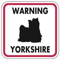 WARNING YORKSHIRE マグネットサイン:ヨークシャー/フルコート(レッドフレーム)Mサイズ