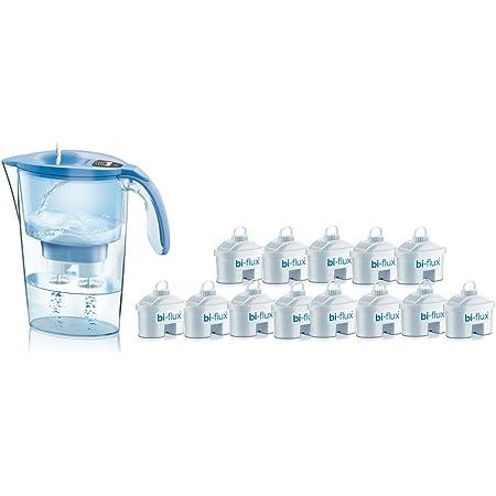 Laica J9074A1 Kit de 13 filtres bi-flux et carafe filtrante, 2,3 litres au total, 1,2 l