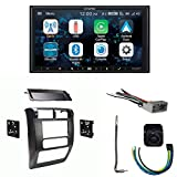 Alpine Bundle ILX-W650 Multimedia Receiver with Dash Kit, Wiring Harness and Antenna Adaptor and B/U Camera, Compatible with Wrangler, 03-06
