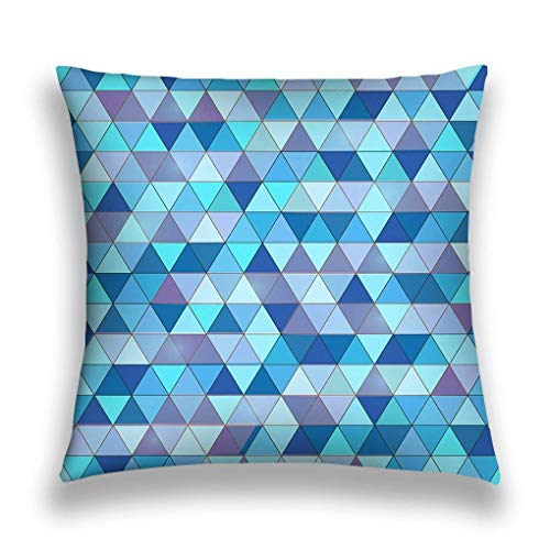 Throw Lumbar Pillow Case Cushion Cover Decorative Cotton Blend Linen Pillowcase for Sofa Rectangle Nice Colorful Background Triangles Nature