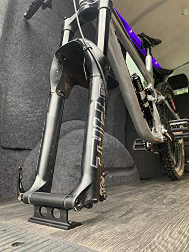 Bike Fork Mount with x4 removable fittings for road gravel and mountain bike fitment 5x100 quick release 12x100 15x100 15x110 thru axle fitments