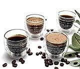 Espresso Cups Set of 4 - 2Oz Espresso Glasses - Double Wall Insulated Espresso...