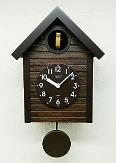 さんてる(Suntel) 掛け時計 アンティークブラウン 405×240×140mm 国産 手作り 鳩時計 アンティークブラウン SQ04-AN