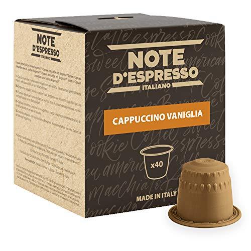Note D'Espresso Kapseln Vanilla Cappuccino Instantgetränk, 6,5g x 40 Kapseln ausschließlich kompatibel mit Nespresso*-Kapselmaschinen
