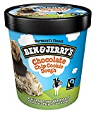 Ben & Jerry's - Vermont's Finest Ice Cream, Non-GMO - Fairtrade - Cage-Free Eggs - Caring Dairy - Responsibly Sourced Packaging, Chocolate Chip Cookie Dough, Pint (8 Count)