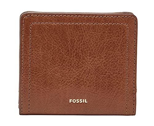 Fossil Womens Logan Bifold, Brown, 10.16 cm x 2.54 cm x 8.89 cm