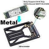M.2 NGFF SATA SSD to 2.5' SATA Enclosure, Mini PCIe SSD Adapter SATA to mSATA Only Support B & M Key SATA Based NGFF M.2 SSD Converter to 2.5 Inch SATA 3.0 Card Support 2230 2242 2260 2280 2.5 SATA