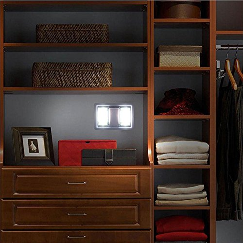 Hulorry LED Wall Light Night for Kids, Romantic Night Light Ultra Bright Magnetic Mini Pretty Light moon Lamp Battery Operated Night Lights for Cabinet Shelf Closet Hallway Indoor Lighting