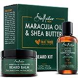 Shea Moisture Beard Oil & Balm Grooming Kit For Men, Organic All natural Maracuja & Shea Oils, Beard...