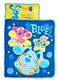 Blue's Clues & You Sure are Smart! Kids Nap Mat Set – Includes Pillow and Fleece Blanket – Great for Girls Napping During Daycare, Preschool, or Kindergarten - Fits Toddlers and Young Children