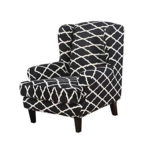 Facai Elastischer Sesselbezug für Ohrensessel Fernsehsessel, Stretch Ohrensessel Bezug, Weiches Sofabezug, Gedruckt Sesselhusse für Loungesessel Polstersessel #4