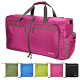 Pujuas Borsa da Viaggio, 85L Leggero Bagaglio da Viaggio Pieghevole, Duffel Bag Bagaglio a Mano, Duffel Bags Weekender, Borsa Sportiva per Lo Sport Viaggio Palestra (Rosa)