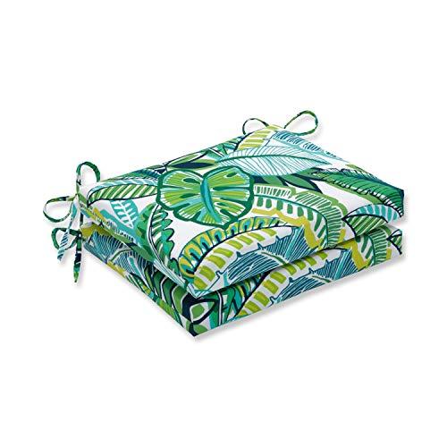 Pillow Perfect Outdoor/Indoor Aruba Jungle Square Corner Seat Cushions, 18.5