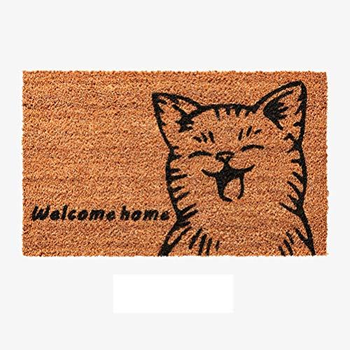 GAO SHOP Karikatur Fußmatte Fußmatten Eingang Heim Fußmatte Außenkissen natürliche Umweltschutz Kokos Fetzen Teppich (Farbe : Pattern1, Größe : 60X90CM)