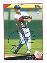 Autograph Warehouse 37456 Jed Lowrie Autographed Baseball Card Boston Red Sox 2009 Topps No. 77