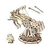 ROBOTIME 3D Puzzles Rompecabezas de Madera Ballista Modelos Kits para Adultos para Construir su Propio Corte láser Rompecabezas construcción de construcción Kits de artesanías